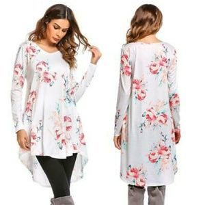 🆕⭐White floral tunic dress⭐